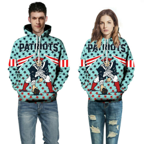 New England Patriots Unisex Hoodie Sports Sweater for Women and Men