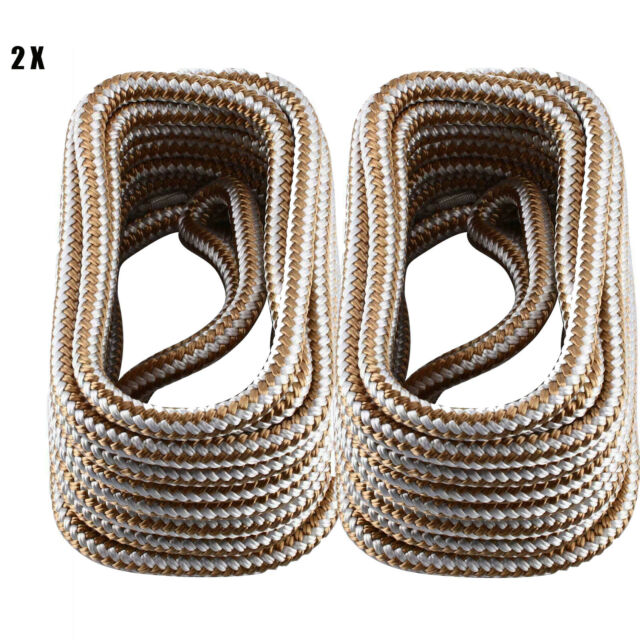 1900LBS,Breaking Strength Black Amarine Made 2 Pack of 3//4 Inch 25 FT Double Braid Nylon Dockline Mooring Rope Double Braided Dock Line,Working Load Limit 9500LBS