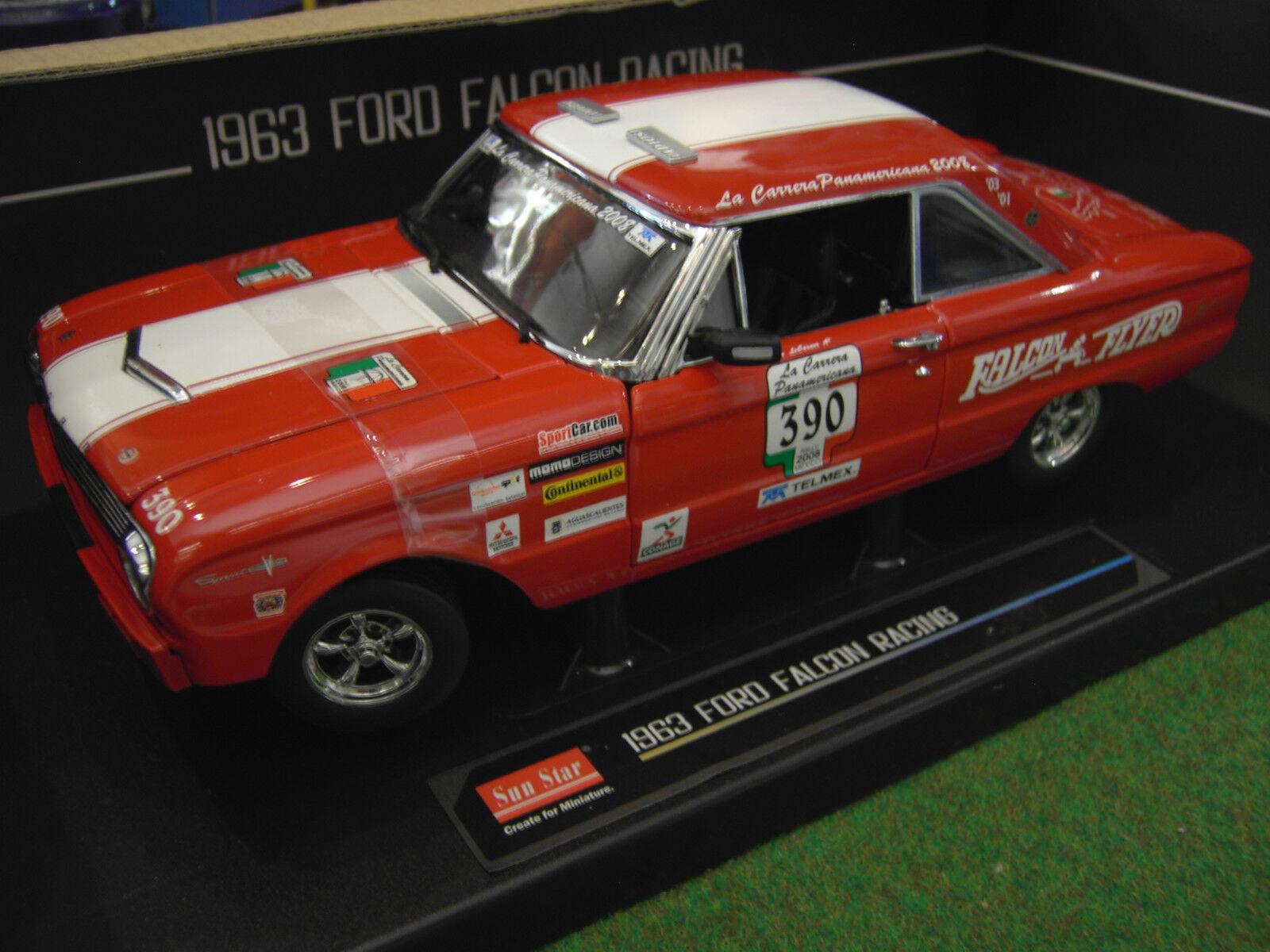 FORD FALCON RACING LEvoitureNER 1963  390 au  1 18 de SUN STAR 4552 voiture miniature  le meilleur service après-vente