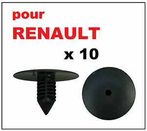 10 x clips agrafe plastique renault spruce passage de roues rivets plastiques ebay. Black Bedroom Furniture Sets. Home Design Ideas