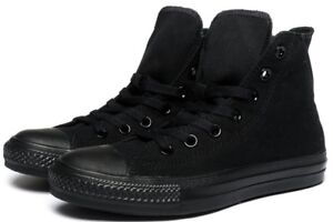 d19504c1fe Details about Converse Hi Top All Star Chuck Taylor Black Mono Mens Womens  Shoes All Sizes