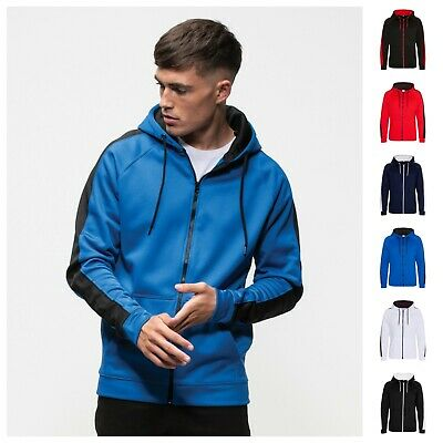 Full Zip Tracksuit Track Top Hoodie Jacket Gym Sports Running Training Wicking üPpiges Design
