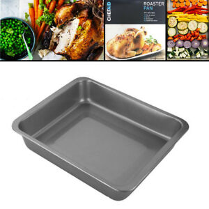 Roaster-Tray-Baking-Tin-Pan-Roasting-Non-Stick-Turkey-Chicken-Oven-Deep-Cooking