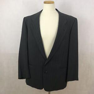 Giorgio-Armani-Mani-Men-039-s-Pinstripe-Blazer-Coat-Jacket-43R-Gray-White