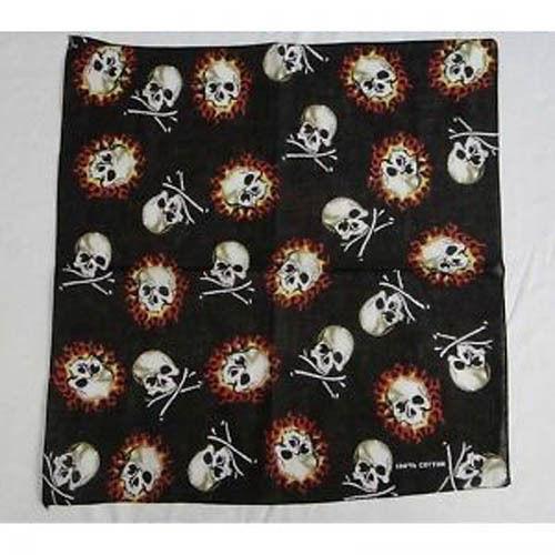 Pirate Skull Bandana Fire Bandanna Hair Bands Scarf Neck Wrist Wrap Headtie Band