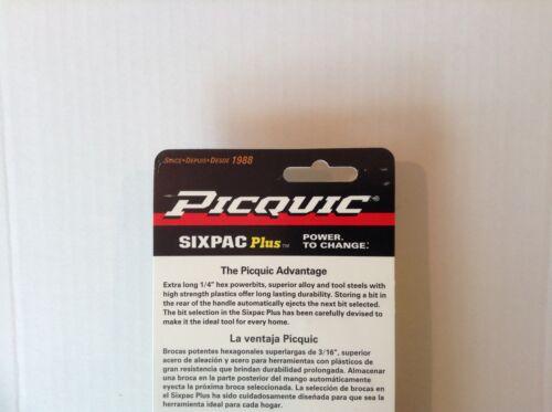"PICQUIC SIXPAC Plus Screwdriver Multi Bit with 7 Hex Powerbits /""Emerald Green/"""