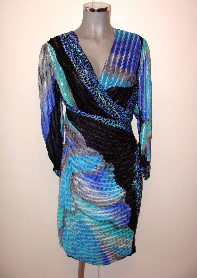 Stylisches Designer Kleid Nylon Gr 40 von Puszta einfach traumhaft IIR