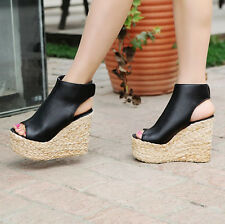 c7aa96a818e Women's Shoes Qupid Val 40a Linen Cap Toe Strappy Espadrille Wedge ...