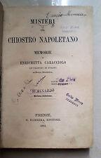 OTTOCENTINA MISTERI DEL CHIOSTRO NAPOLETANO BARBERA 1864 CARACCIOLO