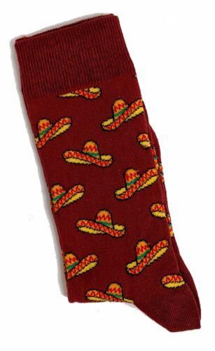 Homme Mexicain Sombrero Chapeau terre cuite Chaussettes 6-11 UK//39-45 EUR//7-12 us