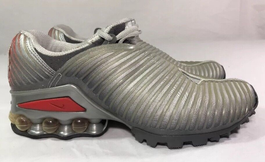 2002 Nike Tuned Air Plus 5 Running Shoes Men's 8 Max Silver Bullet Red Trainer
