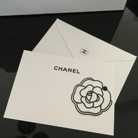 Chanel Camellia Black Metal Bookmark / Brooch With Gift Card Special