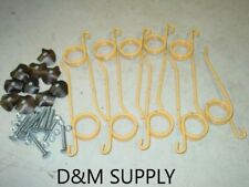 10 Pack Hay Rake Teeth And Hold Down Clips To Fit New Holland 55 56 57 256 258