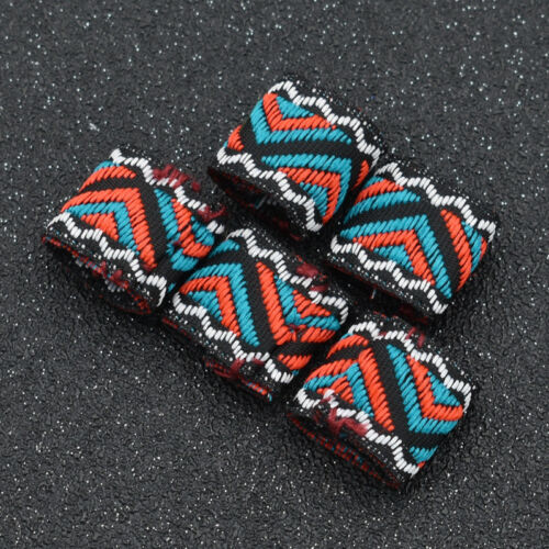 Women Dreadlock Beads Hair Braid Fabric Art DIY Jewelery Accessories Crafts 5pcs