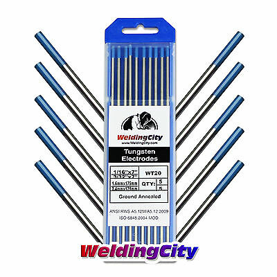 10-pk Tig Welding Tungsten 2% Lanthanated Blue Assorted 1/16-3/32 Us Seller Fast A Great Variety Of Models