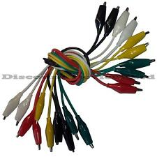 Alligator/Crocodile Clip Test Leads Set 10 Different Colours Prototyping Leads