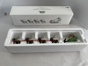 Department 56 Heritage Village Collection Sleigh and 8 Tiny Reindeer 5611-1
