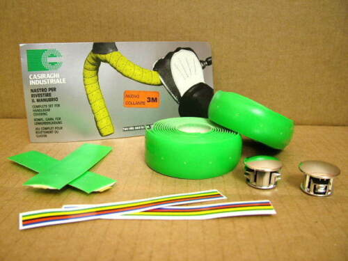 w//End Plugs...One Package Neon Green New-Old-Stock Casiraghi Padded Bar Wrap