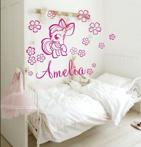Image Is Loading My Little Pony Wall Stickers Girls Name Bedroom