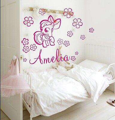 GIRLS NAME Bedroom Wall Art Decal/Sticker Pony/My Little Pony