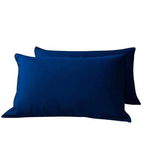 MOHAP Pair Of Zipper Pillowcase Pillow Case Cover Microfiber Queen King Size US