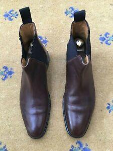Oliver-Sweeney-Mens-Brown-Chelsea-Dealer-Boots-UK-7-US-8-EU-41-Finsbury-Goodyear