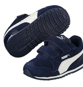 11d2c7161a Details about New Puma Kids ST Runner v2 NL V Sneakers, Little Boy's Size  13.5, Navy/white NEW