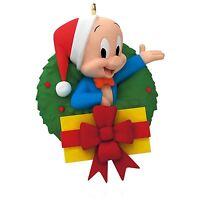 Looney Tunes - Merry Christmas, Folks Porky Pig Wreath Ornament 2015 Hallmark