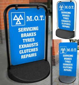 MOT-PAVEMENT-SIGN-ALUMINIUM-DISPLAY-Testing-Station-Servicing-Car-Garage