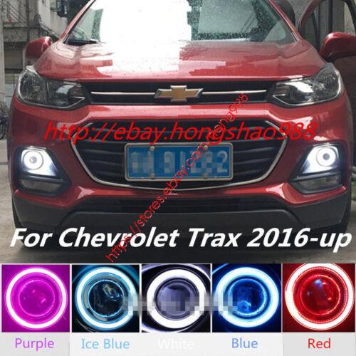 2x LED Daytime Running Fog Lights Lamp DRL+Angel Eyes For Chevrolet Trax 2016-up