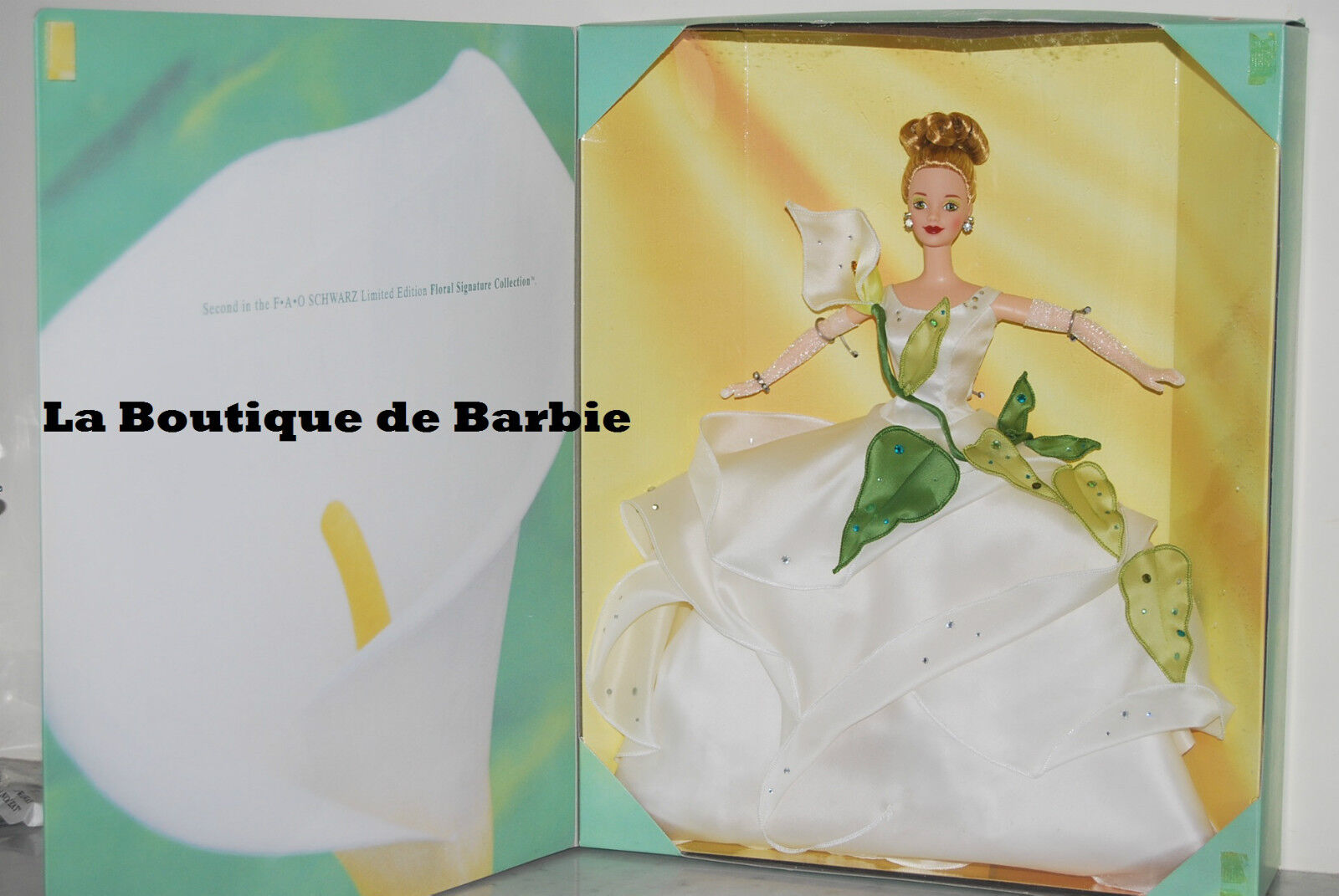 LILY BARBIE DOLL, DESIGNER COLLECTION, FLOWERS IN FASHION SERIES 17556 1997