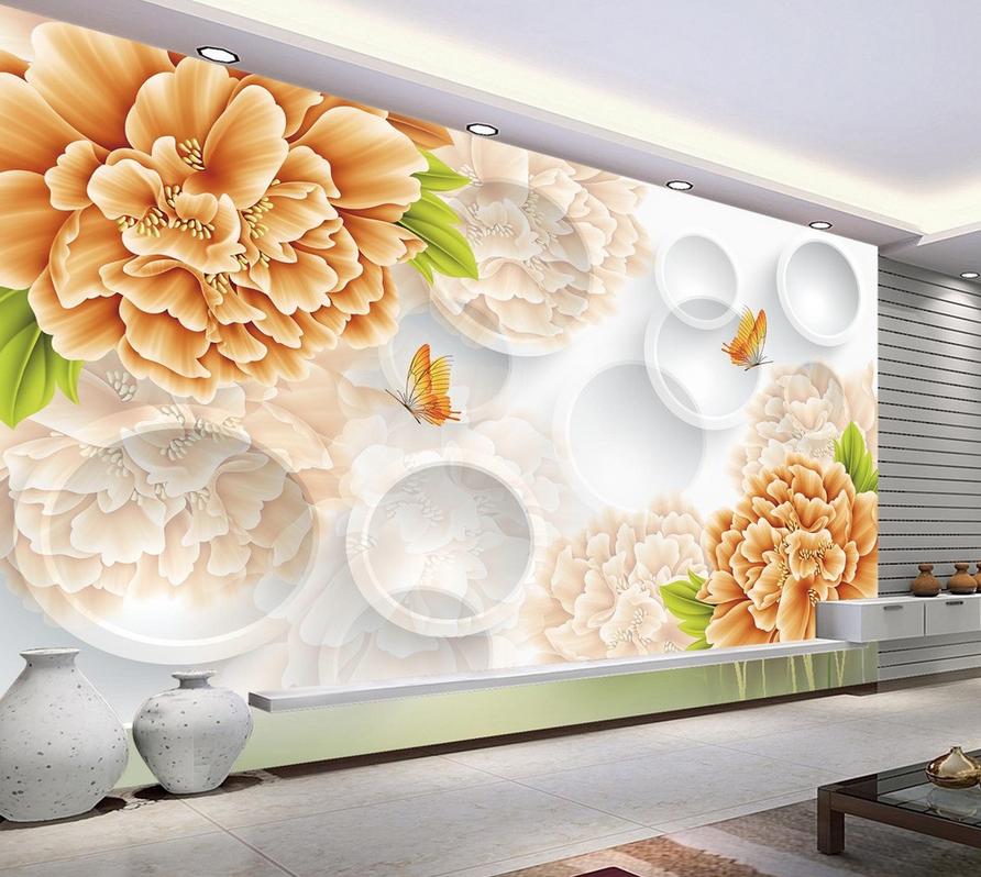 3D Schöne Pfingstrose 9 Tapete Wandgemälde Tapete Tapeten Bild Familie DE Summer