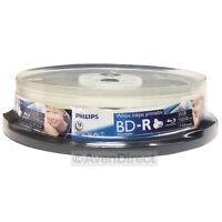 10 Philips 6x Blu-ray Bd-r White Inkjet Print 25gb 135 Hdmin [free Shipping]