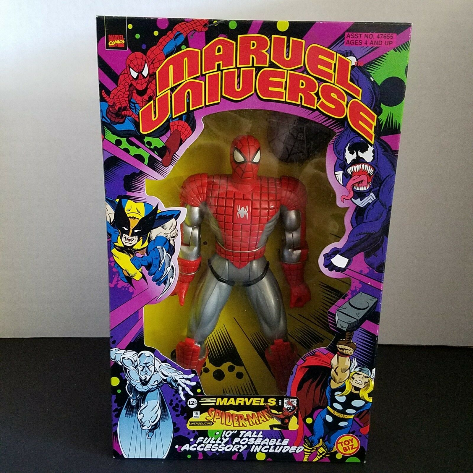 Marvel Universe 2000 Fully Poseable 10  Spider-Man Collectible Action Figure