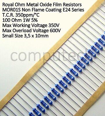 4 pezzi Resistenza Ossido di metallo 0,18 Ohm 3W 5/% Royal Ohm MOR3S 350ppm//°C