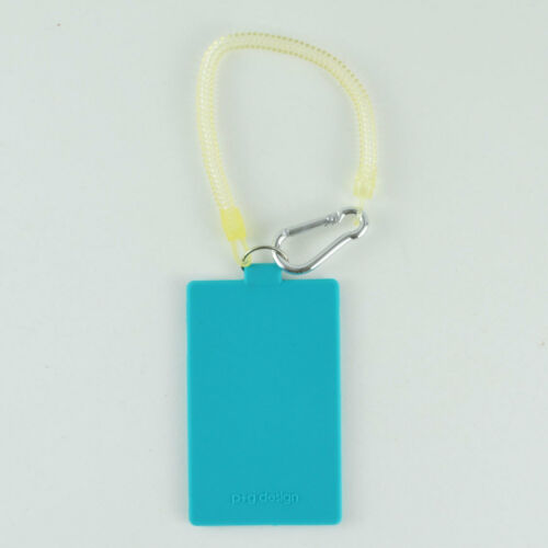 KAI SATSU P+G Designs Turquoise Silicone ID Tag w Lanyard Credit Card Holder