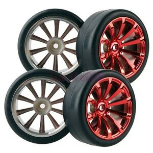 6mm-Offset-RC-1-10-On-Road-Car-Foam-Rubber-Tyres-Tires-Wheel-Rims-606-6018