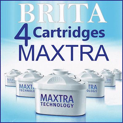 Maxtra X4 Brita Replacement Water Cartridges Britta Jug Filters New 4 Pack
