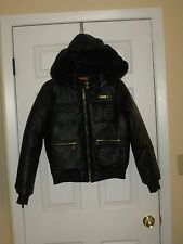 NWT SIZE M APPLE BOTTOMS WOMEN'S FAUX LEATHER BOMBER JACKET MSRP $128