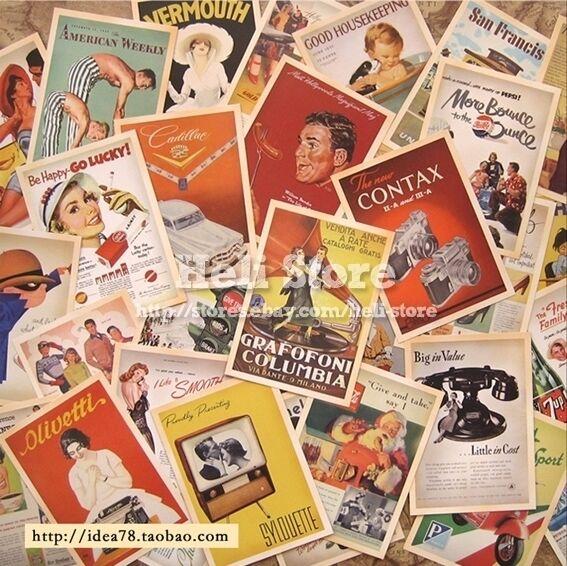 Lot of 32 Postcards Vintage Advertising Album postcard old Greeting Post Cards