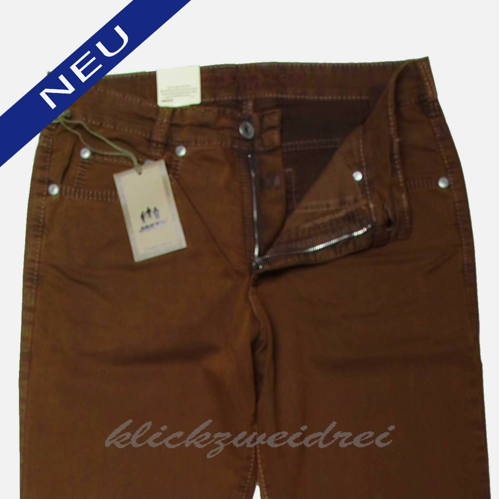 Joker Clark Fischgrat 3969-322 Stretch  copper  double saddle stitched  W34 L30