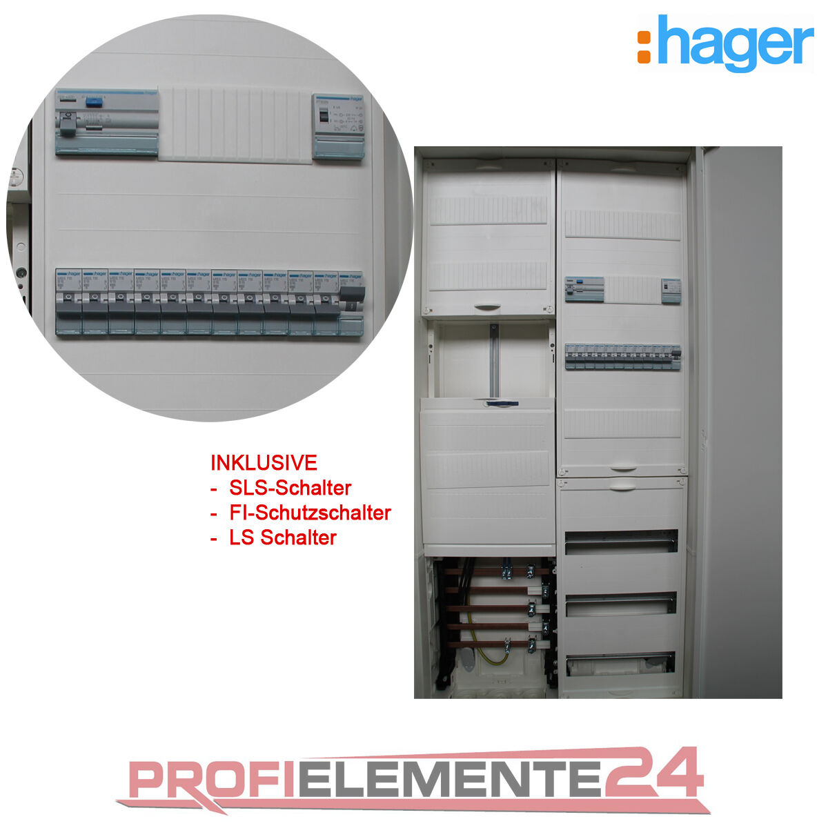 Hager Zählerschrank ZB323T17F bestückt und verdrahtet, SLS,FI, LS | eBay