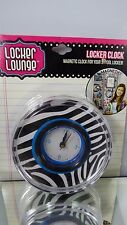Locker Lounge Magnetic Clock Decoration Supplies  Zebra Print School Student