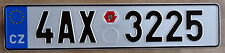 Genuine CZECH REPUBLIC PRAGUE license plate EUROSTARS 4AX 3225 CAPITAL CITY