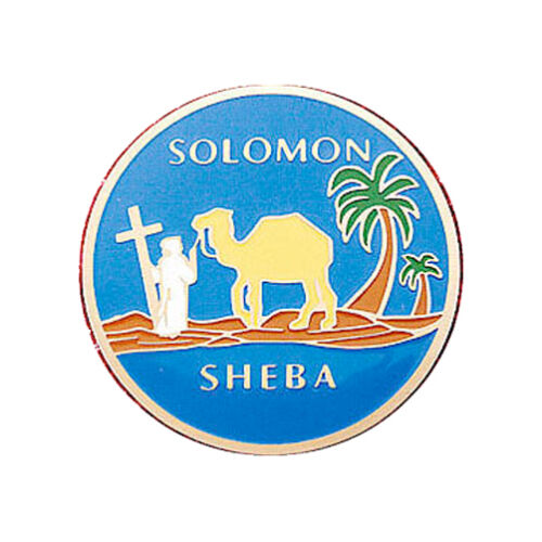 Freemasons Car Emblem Solomon Sheba Queen of the South Masonic bumper decal blue
