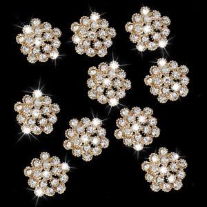 10-Crystal-Rhinestone-Button-Flatback-Wedding-Invitation-Embellishment-Craft