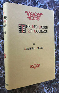 The Red Badge of Courage ~ by Stephen Crane, First Edition, 1896 w/ Facsimile DJ