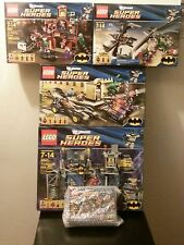 LEGO Super Heroes 5 Set Bundle BATMAN Batcave Batmobile Catcycle Riddler Twoface