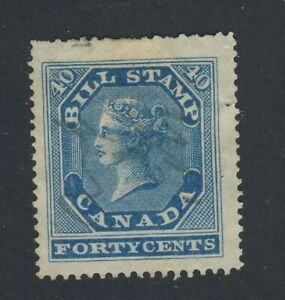 Canada-Revenue-bill-stamp-1st-series-FB13-40c-Used-VF-EF-Guide-Value-75-00