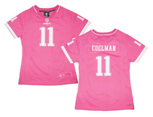 more photos ec4ad 42fbd Details about Girls Youth New England Patriots #11 Julian Edelman Pink  Bubble Gum Jersey